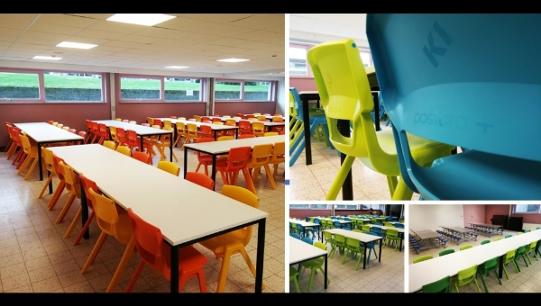 KI's Postura+ chairs add colour to Sint-Martinus Primary School, Belgium